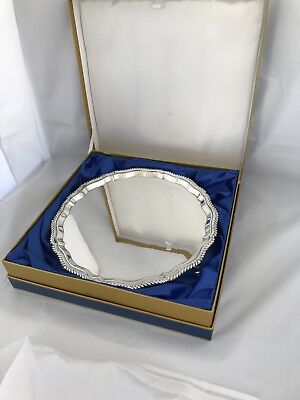 Large Solid Silver Tray Or Salver 1966 London