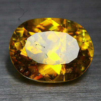 2.55 Cts_Diamond Top Luster_100 % Natural Unheated Golden Yellow Red Spot Sphene