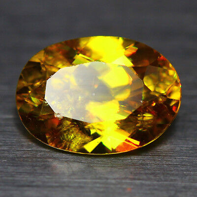1.61 Cts_Diamond Top Luster_100 % Natural Unheated Golden Yellow Red Spot Sphene