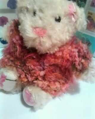Soft And Fluffy Pink/orange Hand Knitted Jumper For Teddy Bear