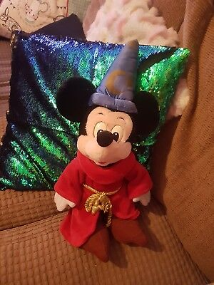 vintage mickey mouse fantasia sorcerer apprentice soft toy Disneyland Paris