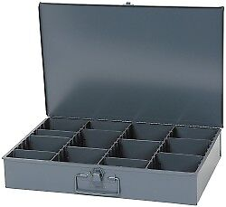 Durham Vertical Adjustable Compartment Small Steel Storage Drawer 18 Inches W...