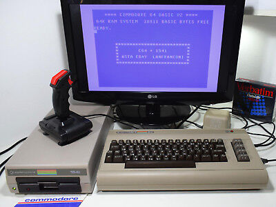 Commodore 64 + Drive 1541 CBM C64 JiffyDOS Ready SidBench Tested