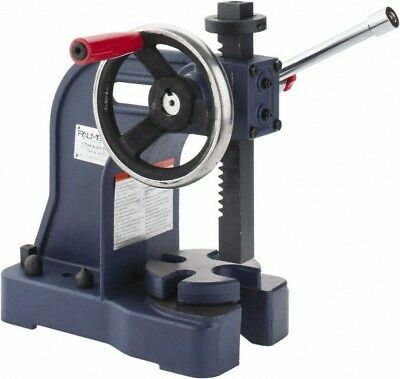 Palmgren 1 Ton Pressure, Single Leverage, Manual Power Arbor Press 8 Inch Max...