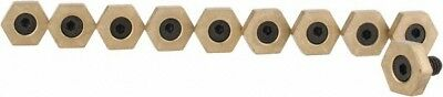 "Mitee-Bite 5/8"" Brass Hex, 1/4-20 Stud Thread, Symmetrical Hex Clamp 3/16"" He..."