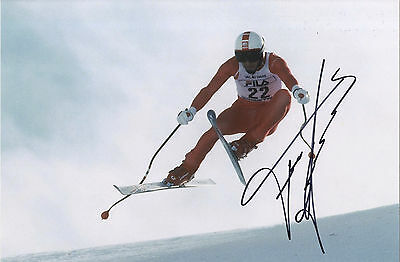 Franz Klammer - Austrian Downhill Skiing Legend - In Person Signed Photograph.