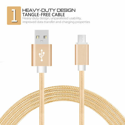 1M Strong Duty Braided Lightning USB Charger Cable For Samsung S4 S5 S6 S7 Edge