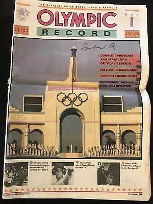 Muhammad Ali Autograph Signed Olympc Newspaper Greatest Boxer EVER