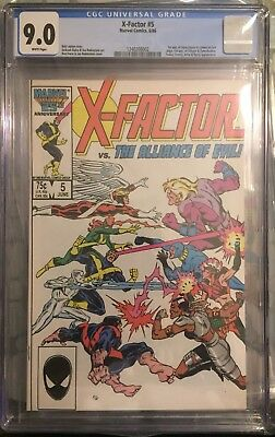 X-Factor #5 CGC 9.0 White Pages 1st Apocalypse!