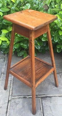 Antique Vintage Wooden Jardiniere Plant Pot Stand ~ Lamp Table