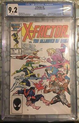 X-Factor #5 CGC 9.2 White Pages 1st Apocalypse!