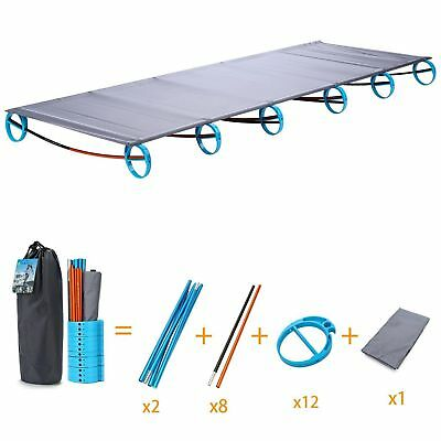 Outdoor Ultralight Folding Bed Portable Aluminium Alloy Cots Camping Tent Bed