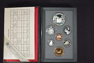 1989 Canada (7) Coin Proof Set Loon & Mackenzie River Dollar