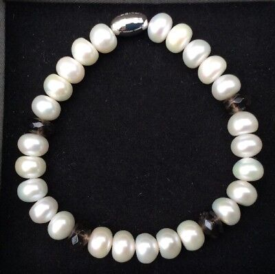 Freshwater Cultured Pearl Bracelet From Azendi With Sterling Silver Join