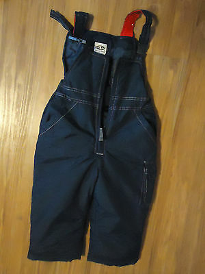 CHILDS SNOW PANTS BIBS NAVY BLUE by ATHLETIC WORKS SIZE 3T VERY GOOD CONDITION