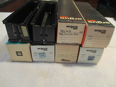 8 - Vintage Argus 60 Capacity 35mm USED spill proof Slide Magazine/Tray & Boxes