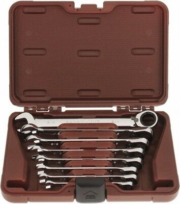 """Paramount 8 Piece, 5 to 16-3/4"""" Reversible Ratcheting Combination Wrench Set ..."""