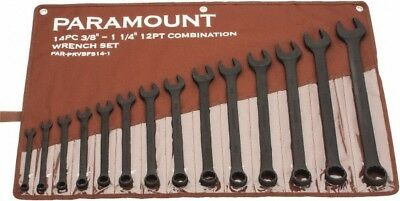 """Paramount 14 Piece, 3/8 to 1-1/4"""" Combination Wrench Set Inch Measurement Sta..."""
