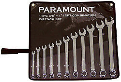 """Paramount 11 Piece, 3/8 to 1"""" Combination Wrench Set Inch/Metric Measurement ..."""