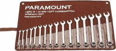 Paramount 16 Piece, 6 to 21mm Combination Wrench Set Metric Measurement Stand...