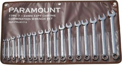 Paramount 17 Piece, 7 to 24mm, 12 Point Combination Wrench Set Metric Measure...