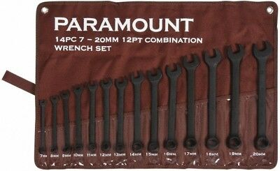 Paramount 14 Piece, 7 to 20mm, 12 Point Combination Wrench Set Metric Measure...