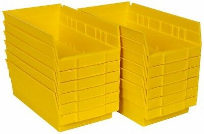 "Akro-Mils 11-5/8"" Deep, Yellow Hopper Shelf Bin 4"" High x 6-5/8"" Wide x 11-5/..."