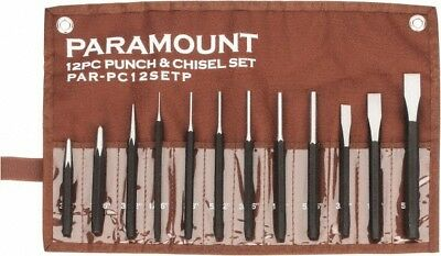"Paramount 12 Piece Center, Pin & Starting Punch & Chisel Set 3/8 to 5/8"" Chis..."