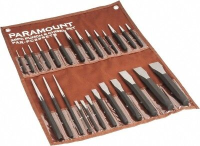 Paramount 26 Piece Center, Drift, Pin, Prick & Starting Punch & Chisel Set 1/...