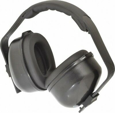 PRO-SAFE Single Position, 29 NRR, Black Earmuffs Over the Head, Cushioned Hea...