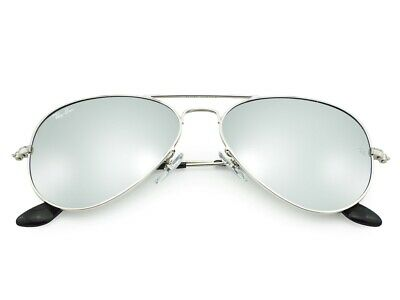 RAY-BAN Sunglasses Aviator Silver Frame Gray Mirror Glass Lens RB3025 W3275 55mm
