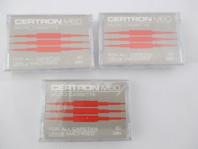 Certron Micro Cassette For Dictation / Phone Answering Machine - Lot of 3 NEW