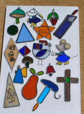 Lot Of Vintage Mixed Stained Glass Pieces