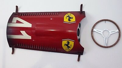 1956 Ferrari Other Race 1956 Ferrari F1 Grand Prix Race Car Inspired Hood Panel Wall Art by Darren Hall