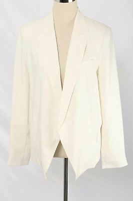 Topshop Maternity Size 8 Cream Cut-Away Front Point Open Front Blazer 1607 T117