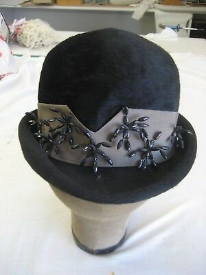 Vintage Christian Dior woman's hat, body of the hat made in Italy