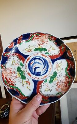 Antique hand painted Japanese Plate