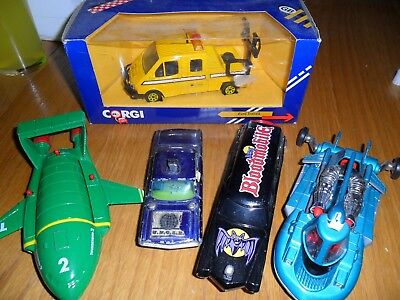 5 toy cars including man from uncle and bloodmobile