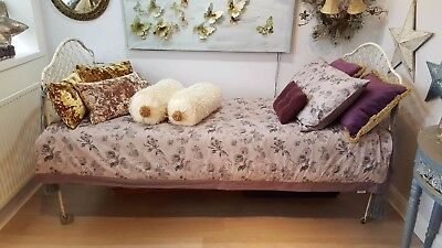 Romantic French Wrought Iron Daybed - Shabby Chic - Circa 1920