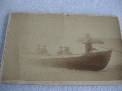 Rare 1884 Cabinet Photo Of Rescue Attempt By Indians City Of Columbus Disaster