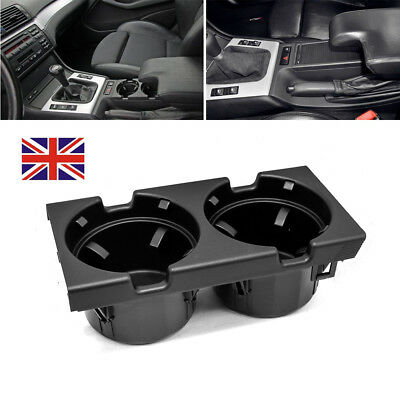1X Front Center Console Cup Holder Black For Bmw 3 Series E46 51168217953