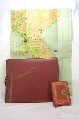 Korean War Soldiers Diary Photo Album & Strike Map-400+photos ID Name Place Date