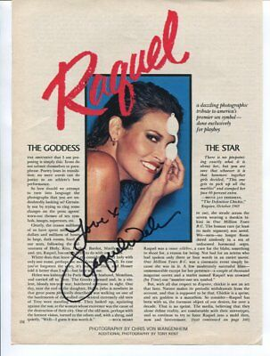 RAQUEL WELCH autograph HAND SIGNED 5850