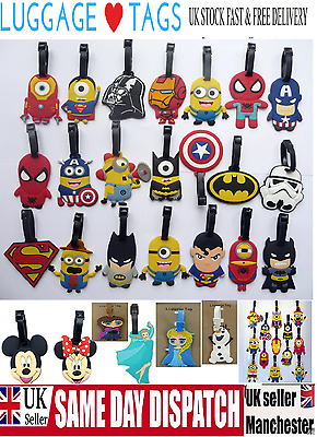 Kids Children Luggage Tags Travel Suitcase School bag Label Name ID,Minion,Minne