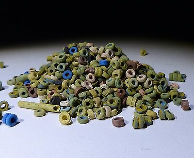 Super Quantity Of Ancient Egyptian Beads Group Circa 1300 Bc  - No Reserve 0012