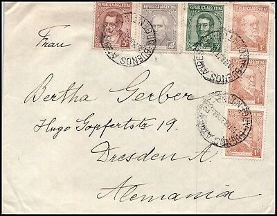 Argentina cover 1937, to Germany