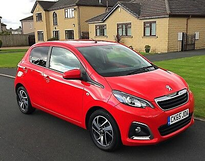 2015(65) Peugeot 108 Allure - 1.2 Vti Petrol - Red - 14,000 Miles - 5 Door