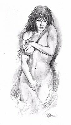 Druuna!I Pencil Sketch on Tone Paper, SEXY! BEAUTIFUL!!
