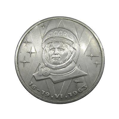 N526 1 ruble 1983 USSR Tereshkona space woman Original RARE coin Free shipping!