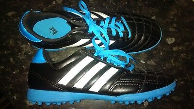 Adidas Men's Astro Turf Football Trainers Soccer Boots size 8.5 UK, black blue